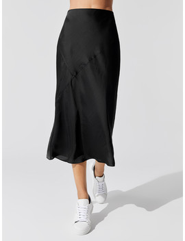 Washed Satin Skirt by Carbon38