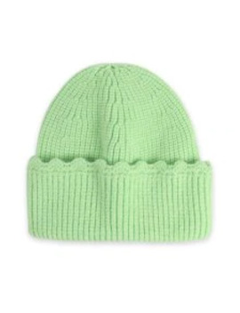New Ins Solid Knitted Winter Simple Hat   Green by Zaful