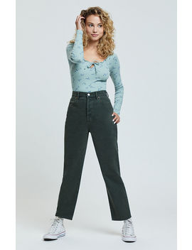 Pac Sun Chive High Waisted Straight Leg Jeans by Pacsun