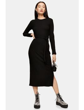 Belted Jersey Midi Dress by Topshop