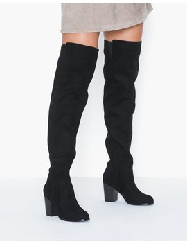 Thigh High Wood Heel by Nly Shoes