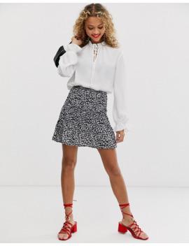 New Look – Weiße Bluse Mit Schnürung by Asos
