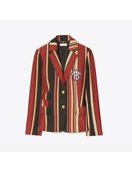 Striped Knit Blazer by Tory Burch