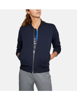 Ua Threadborne™ Fleece Bomber Women's Jacket by Under Armour
