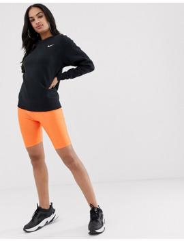 Nike – Oversize Sweatshirt Mit Kleinem Swoosh Logo In Schwarz by Asos