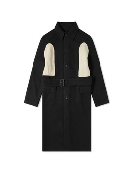 Jw Anderson Knitted Insert Wool Coat by Jw Anderson