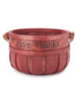 """Give Thanks"" Large Red Wooden Basket by ""Give Thanks"" Large Red Wooden Basket"