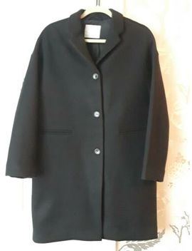 Everlane Womens Black Wool Blend Oversized Cocoon Coat Size 4 Nwot by Everlane
