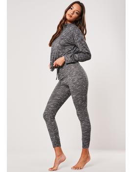 Dark Gray High Neck Jogger Loungewear Set by Missguided