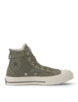 Chuck Taylor All Star 70 Vltg Suede Overlay High Top Utility Green by Converse