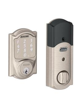 Camelot Satin Nickel Sense Smart Door Lock by Schlage