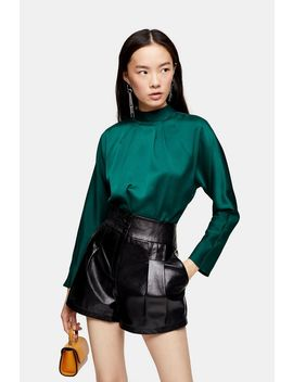 Twist Back Satin Blouse by Topshop
