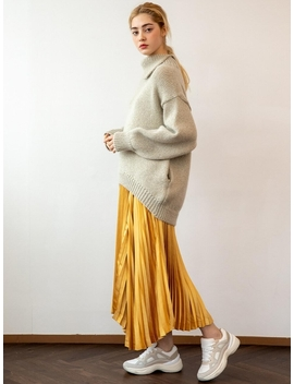Elli Pleats Skirt Yellow Stain by Unkiind