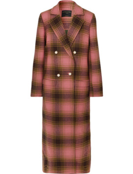 Mable Embellished Double Breasted Checked Wool Coat by Mother Of Pearl