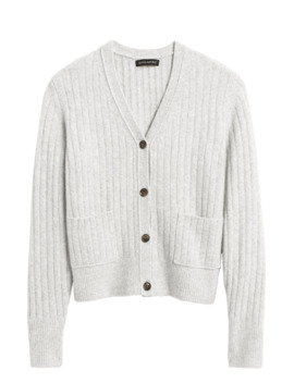 Aire Cropped Cardigan Sweater by Banana Repbulic