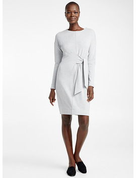 La Robe Sweat Taille Nouée by Contemporaine
