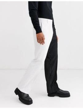Jaded London – Anzughose In Schwarz Und Weiß Mit Nadelstreifen Und Farbblockdesign by Asos