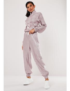 Pink Co Ord Shimmer 90's Joggers by Missguided