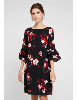 Shadow Floral Flute Sleeve Dress   Vardagsklänning by Wallis