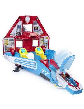 Paw Patrol Super Pa Ws 2 In 1 Transforming Mighty Pups Jet Command Center by Walmart
