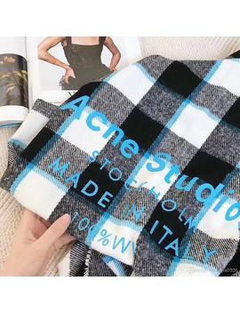 Fashion Plaid Patterns Acne Echarpe Luxury Scarf Unisex 2019 Female Male Canada Wool Cashmere Brand Scarf Pashmina Classic Plaid Winter Scar by D Hgate.Com