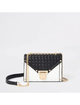 Black And White Quilted Cross Body Bag by River Island