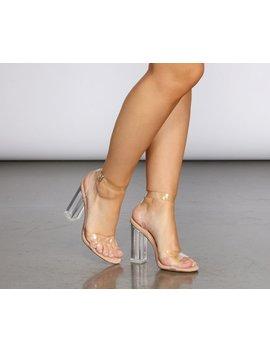 Criss Cross Clear Heels by Windsor