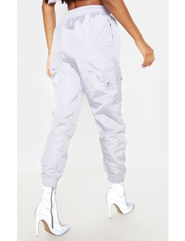 dusty-lilac-shell-pocket-detail-cargo-pants by prettylittlething