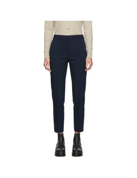 Navy Masculine Trousers by Maison KitsunÉ