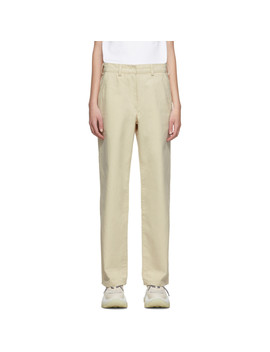 Beige Workwear Trousers by Our Legacy