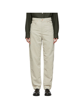Beige Corsyv Trousers by Isabel Marant Etoile