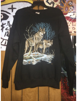 Vintage Lee Wolf Sweatshirt by Lee  ×