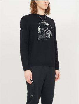 Skull Embroidered Stretch Knit Jumper by The Kooples
