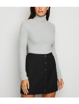 Jdy Black Button Front Mini Skirt by New Look