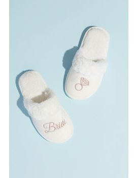 Metallic Embroidered Bride Slippers by Capelli