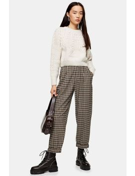 Casual Check Tapered Trousers by Topshop