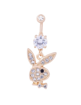 Zircon Rabbit Head Medical Women Belly Button Ring Beautiful Navel Piercing Body Fashion Jewelry Best Gift For Ladies by Ali Express.Com