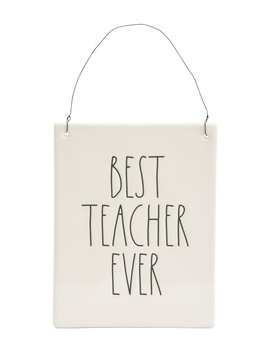 Best Teacher Ever Wall Plaque by Tj Maxx