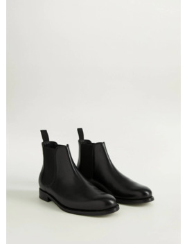 Black Nappa Elastic Boots by Mango