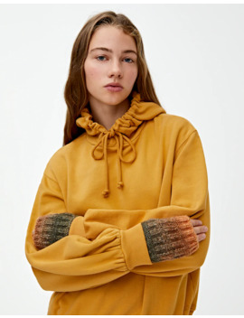 Mustard Yellow Hoodie by Pull & Bear