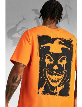 Oversized Halloween Back Print Clown T Shirt by Boohoo