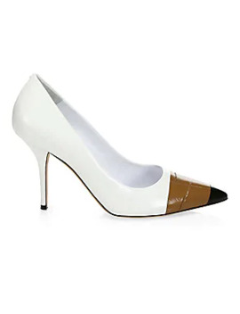 Analise Leather Pumps by Burberry