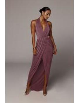 Purple Mckenna Backless Dress by Jluxlabel