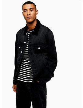 Black Corduroy Collar Jacket by Topman