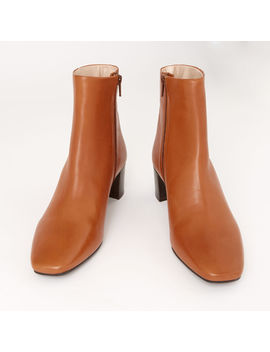 Leather Square Toe Ankle Boots by Warehouse