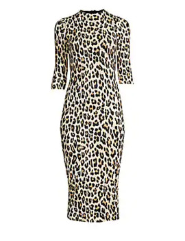Delora Leopard Bodycon Dress by Alice + Olivia