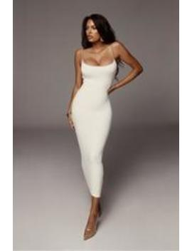 Ivory Ryder Contrast Dress by Jluxlabel