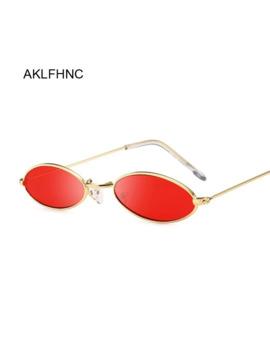 Retro Oval Red Sunglasses Men Women Brand Designer Vintage Metal Frame Sun Glasses Male Female Lunette De Soleil Homme Uv400 by Ali Express.Com