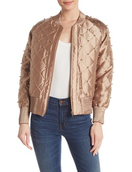 Quilted Embellished Jacket by Tov