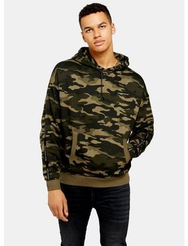 Good For Nothing Camouflage Oversized Hoodie by Topman